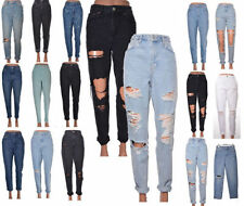 Topshop Tapered, Carrot Ripped, Frayed Jeans for Women
