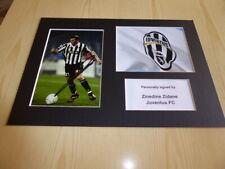 Zinedine Zidane Juventus FC mounted photographs original autograph signed
