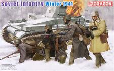 DRAGON SOVIET INFANTRY WINTER 1941 1/35 Kits Soldiers 4 figures model