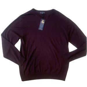 NWT Hart Schaffner Marx Extra Fine Biella Yarn Merino Wool Sweater Tall Mens XLT