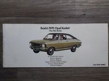 Original Vintage 1970 Opel Kadett The Mini-Brute Rallye Wagon Coupe Sedan Buick