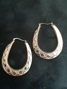 925 sterling silver creole earrings
