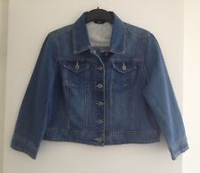 Ladies M&Co Blue 3/4 Length Sleeve Denim/Jean Jacket - Size 14 *VGC*