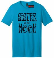 Sister Of The Moon Mens V-Neck T Shirt Yoga Hippie Graphic Tee Party Gift Tee