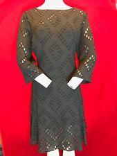 BNWT BIBA Costume Drama Black Jacquard Drop Waist Shift Dress UK 16 RRP £99.00