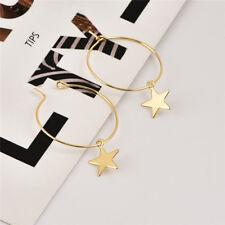 Boho Vintage Fashion Simple Large Circle Star Hoop Earrings Women Jewelry Party