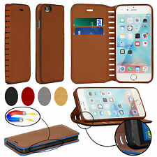 Luxury Leather Magnetic Wallet Case Cover iPhone 8 Plus iPhone 7 6S X XS Max XR