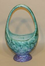 1930 Clarice Cliff Bizarre Inspiration Turquoise Deep Blue Gaiety Flower Basket
