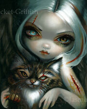 Jasmine Becket-Griffith art print cat dark fairy angel goth SIGNED Zombie Kitty