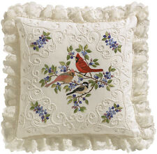"""""""Birds And Berries Candlewicking Embroidery Kit-14""""""""X14"""""""" Stitched In Thread"""""""
