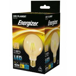 Energizer Dimmable 5W = 40W LED Filament G95 Antique Light Bulb Edison Screw