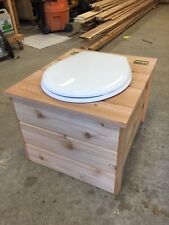 Sawdust Composting Toilet with Urine Diverter - Cedar Tongue and Groove