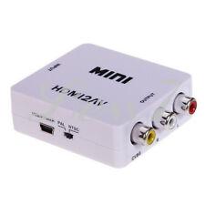 Mini HDMI To RCA 1080P HD Video Audio AV CVBS USB Adapter Converter HDMI2AV