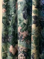 Laura Ashley Ashbourne Window Curtain Panels Rod Pocket Lined