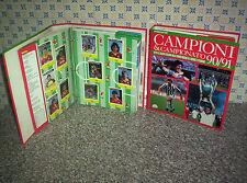 ALBUM CALCIATORI CAMPIONI & CAMPIONATO 90/91 COMPLETI FIGURINE+SCHEDE AGOSTINI