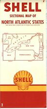 1956 Shell Road Map: North Atlantic States NOS