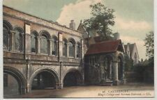 bn england kent postcard english kings college canterbury LL