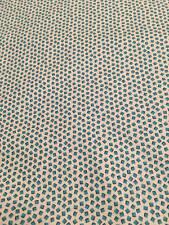 "Cotton Quilt Fabric Aqua Geometric 1 Yd. L x 45"" W 100% Cotton New DS Quilt Coll"