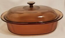 Corning Ware Amber Visions V- 34- B 4 Quart Casserole Dutch Oven with Lid