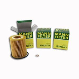 Mann Oil Filter HU925/4x 3 Packs fits BMW 3 Series E46 325ti 323Ci 325Ci 330Ci
