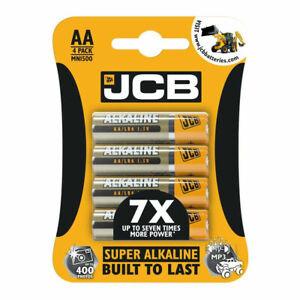 JCB AA SUPER ALKALINE  4 X 1.5V 1.5 VOLT LR6 BATTERY CELL GENUINE BATTERIES