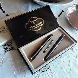 Le PLUS de CARDIN fountain & ball pen rare set NOS