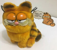 Vintage Dakin 1981 GARFIELD Tagged Cat Plush Stuffed Toy Collectible 10 inch