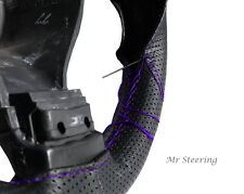 FOR MITSUBISHI GRANDIS PERFORATED LEATHER PURPLE STITCH STEERING WHEEL COVER