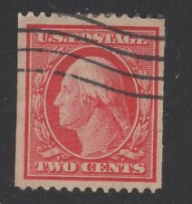 U.S. STAMP  #386 -- 2c WASH-FRANK -- FLAT, p12H, w190 -- 1910 -- USED