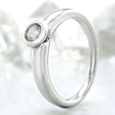 Ringe mit Reinheit P2 solitäre Echtschmuck aus Weißgold