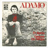"""ADAMO Vinyle 45 tours 7"""" ET APRES - GAGNER DU TEMPS - VOIX DE SON MAITRE 23148"""