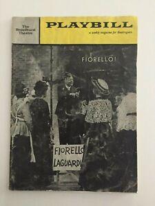 "Vintage Playbill ""Fiorello!"" Tom Bosley 1960 The Broadhurst Theatre"