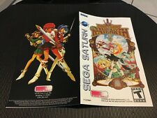 Color Custom Manual MAGIC KNIGHT RAYEARTH SEGA SATURN USA Version - AAA+++