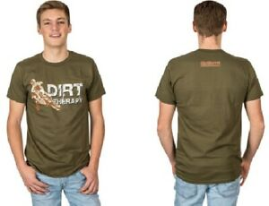 Tecmate Mens Dirt Therapy T-Shirt Brown/White/Green All Sizes