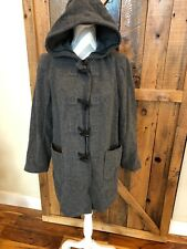 MOTHERHOOD Maternity Grey Hooded Toggle Coat Wool Blend Medium Soft Warm P Coat