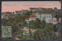 45771) AK Frankfurt a. Oder Wilhelmsplatz mit Kriegerdenkmal 1920