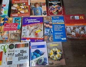 Konvolut Bücher Buchpaket  Handarbeit Basteln Werken Häkeln Stricken (r46)