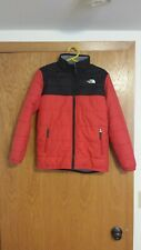 The North Face Goose Down Coat Jacket Red Black Boys Youth 14/16 Large