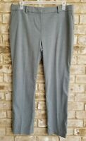 Ann Taylor $98 Gray Kate Curviest Fit Trouser Leg Dress Pants Sz 14 x 31 New
