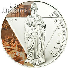 ZENOBIA - Greatest She Warriors - Silver Proof Coin 2011Togo AFRICA EGYPT ROMAN