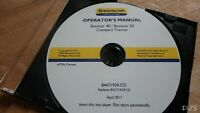 2011 NEW HOLLAND BOOMER 40 50 TRACTOR OPERATORS MANUAL CD DN158