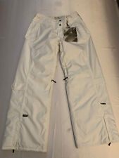 NWT OAKLEY Womens Checked Out Snowboard Pant White Medium Baggy Fit New 👀🔥