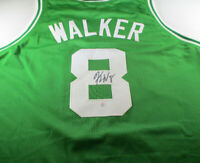 KEMBA WALKER / AUTOGRAPHED BOSTON CELTICS GREEN CUSTOM BASKETBALL JERSEY / COA