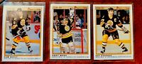 1990-91 (HKY) OPC Premier Ray Bourque Andy Moog Can Neely Bruins NM-MT