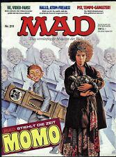 MAD Nr.211 von 1986 - TOP Z1 ORIGINAL BSV COMICHEFT Satire Alfred E.Neumann