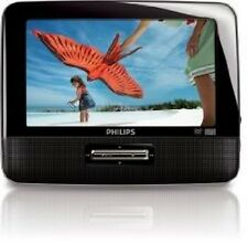 "Philips PD7012S Portable DVD Player 7"" W/Headrest Mounting Straps & Car Charger"