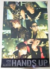 2PM - Hands Up 2nd album, B  / OFFICIAL POSTER *HARD TUBE CASE*