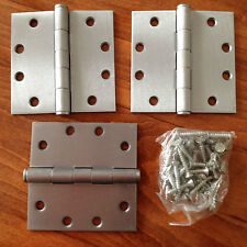 "TELL MFG ... 4.5"" X 4.5"" SATIN CHROME ... 3 HINGES... SQUARE CORNER HINGES US26D"