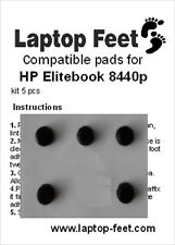 Laptop rubber feet for HP Elitebook 8440p compatible set (5 pcs self adh. by 3M)