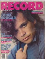DEC 1983  RECORD vintage music magazine -- JOHN COUGAR MELLANCAMP